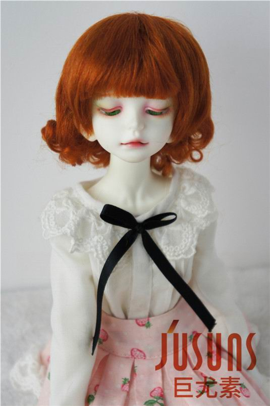 JD268 1/4 MSD 100% mohair doll wigs SD 7-8 inch Short back curly BJD wig mohair doll accessories