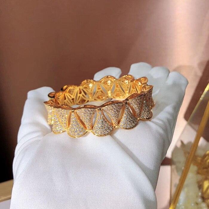 Bijoux en cuivre de mode Designer bracelet de fête en zircone cubique 3A-in Bracelets from Bijoux et Accessoires    3