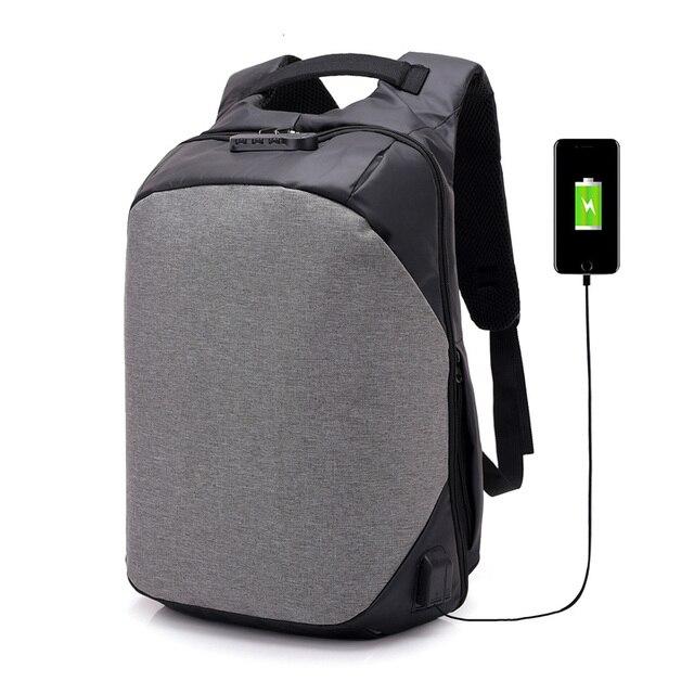 2b8f73ac3 Antifurto mochilas escolares para os homens à prova d' água bolsa de  computador portátil mochila 15.6 saco escola dos meninos schoolbag  dropshipping 2019