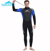 SBART Men 3mm Neoprene Wetsuit Winter Thermal Summer Sun Protection One-piece Suit for Scuba Diving Spearfishing Snorkel
