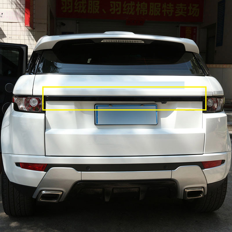 For Landrover Range Rover Evoque 2012-2016 ABS Rear Trunk Lid Trim Car-Styling Free shipping by DHL or Fedex $80 for dhl or fedex shipping cost