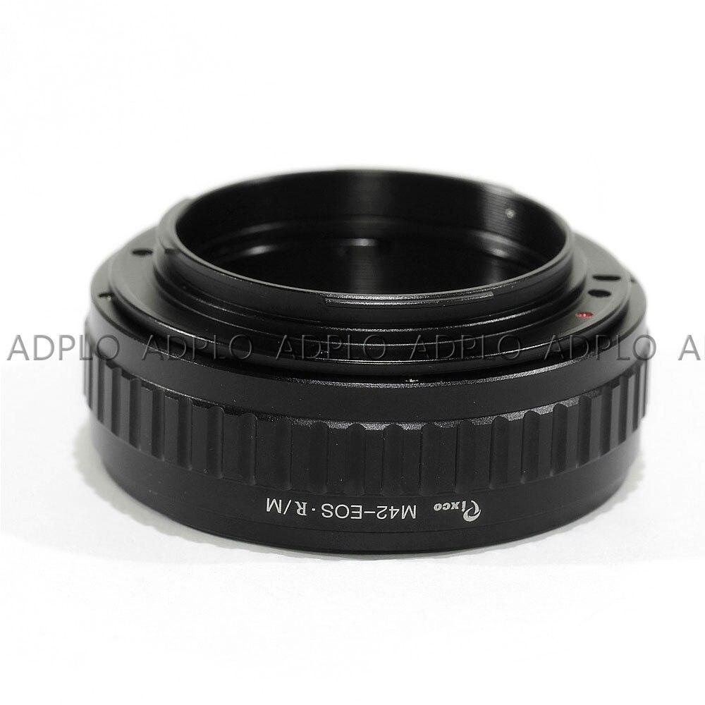 Pixco pour M42-EOS.R adaptateur objectif réglable Macro à l'infini pour caméra M42 à monture Canon EOS R - 2