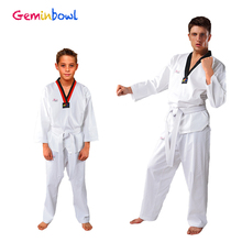 цена на Shirt pants clothing children taekwondo uniform adult long-sleeve Cotton tae kwon do