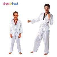 Geminbowl Shirt pants clothing children taekwondo uniform adult long sleeve Cotton tae kwon do