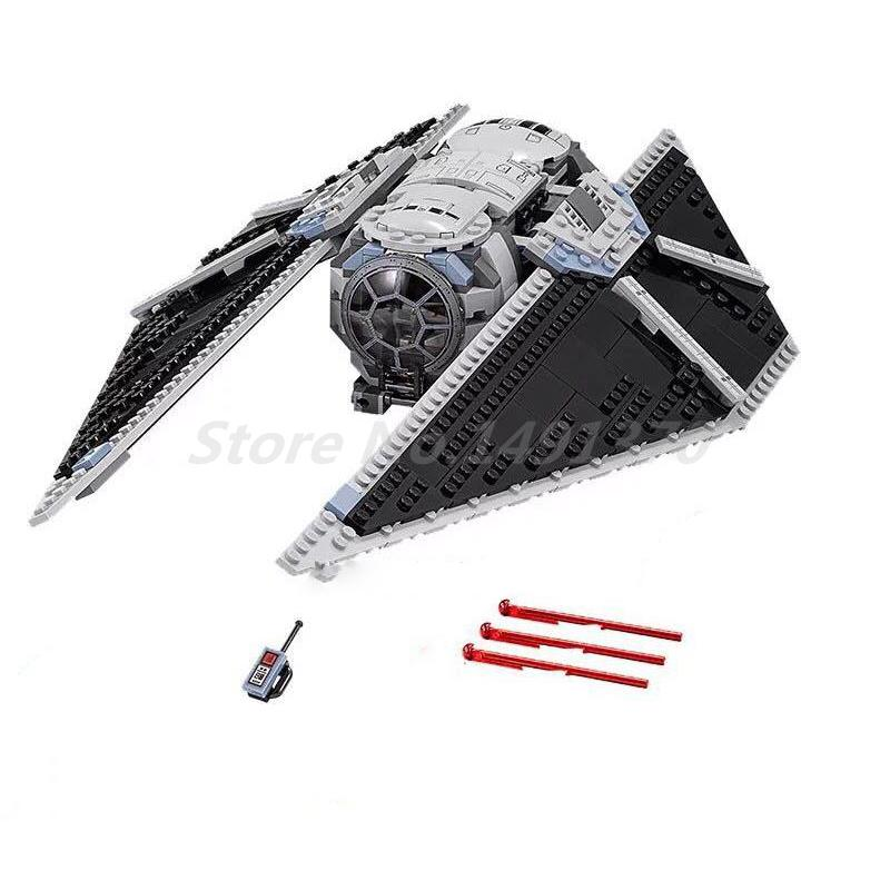 LEPIN 05048 Star Wars Figures The TIE Striker 75154 Building Blocks Model Sets Educational Toys For Children Birthday Gifts