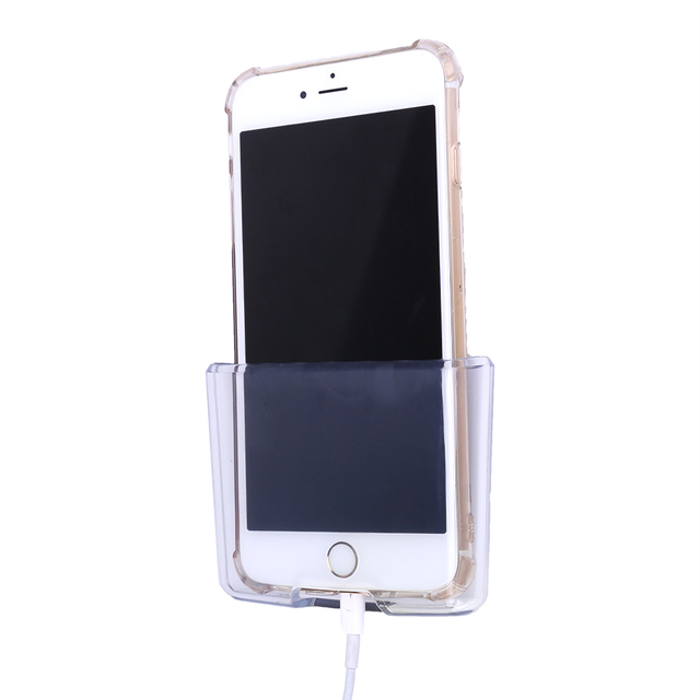 Universal Car Phone Holder Transparent Clear Plastic Storage Pouch Car-styling Mobile Phone Charge Box Auto Accessories