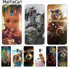MaiYaCa Guardian Rocket Raccoon Groot Treeman Colorful Phone Cover for Samsung S9 S9 plus S5S6 S6edge S6plus S7 S7edge S8 S8plus(China)
