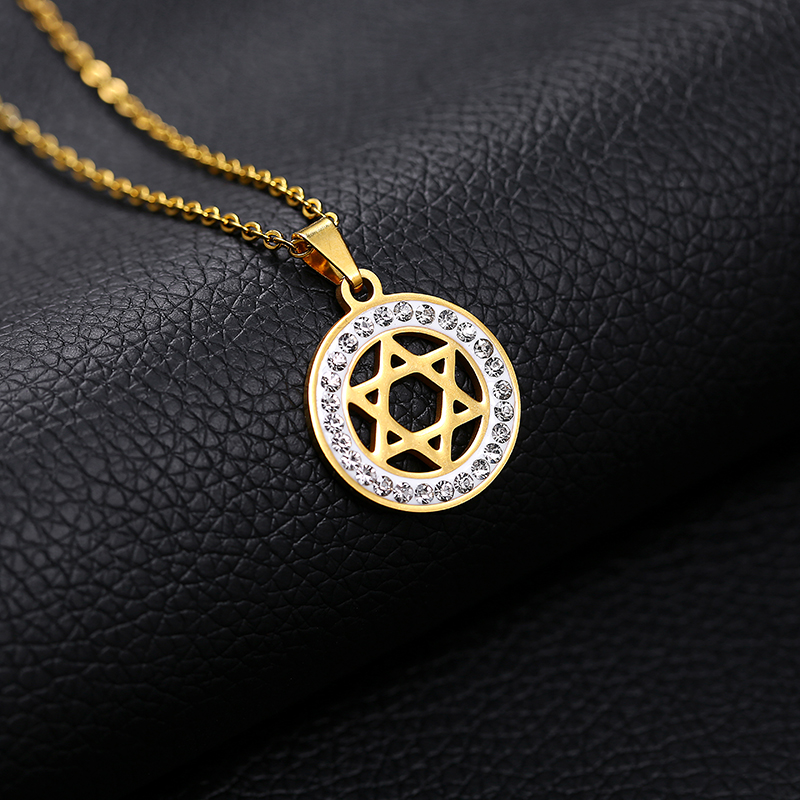 Jewish Shield Magen Star of David Judaism Pendant Necklace Stainless Steel  Yahadut Gold Silver Color Men Women Israel Jewelry-in Pendant Necklaces from  ... 7f6ada971407