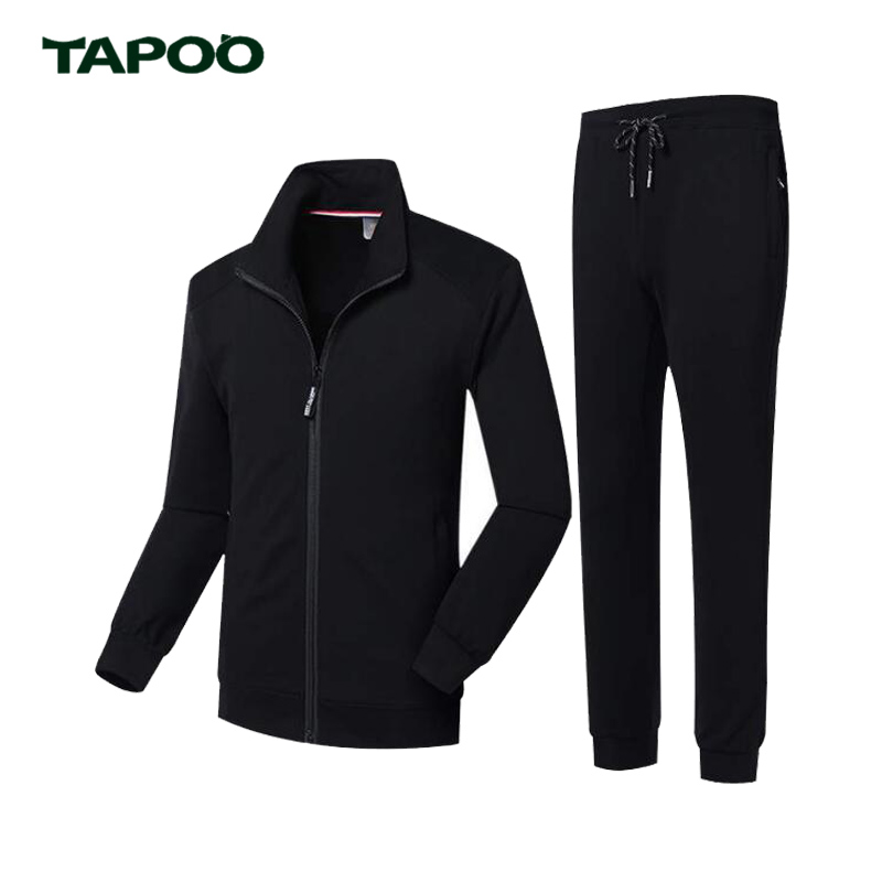 TAPOO Sportswear Set Men Loose Plus Size Suit Windproof Mens Clothing Warm Fitness Tracksuit Jogger Sets