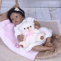 55 см силиконовая кукла Reborn Baby Мягкая тканевая игрушка ручные волоконные волосы для продажи новорожденного ребенка лучший подарок раннее об