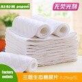 10 pcs conforto Ambiental super-absorvente fralda de pano 3 camadas de algodão lavável reutilizáveis recém-nascidos bebês 1 a 12 meses bebê