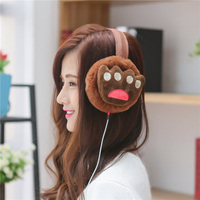 New Hot Autumn Winter Music Earphones Earmuffs For Women Faux Fur Unisex Korean Ear Muffs Earcap