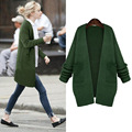 2016 Novo Tamanho Grande Outono Mulheres Cardigans Blusas Xale Casuais Engrossar Casaco Camisola Feminina Plus Size Roupas de Inverno Outerwear