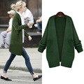 2016 Nueva Gran Tamaño Las Mujeres Del Otoño Cardigans Jerseys Casual Mantón Espesar Suéter de Abrigo Mujer Plus Tamaño de Invierno Ropa de Abrigo