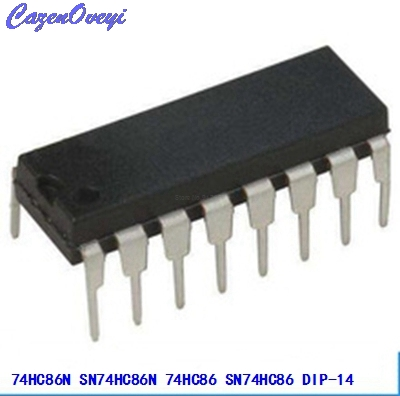 10pcs/lot 74HC86N SN74HC86N 74HC86 SN74HC86 DIP-14 Logic Gates QUAD 2-INPUT EXCLUSIVE-OR GATE New Original In Stock