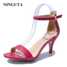 Simple ankle strap heels sandals women summer shoes woman