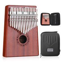 GECKO Kalimba 17 клавиш большой палец фортепиано встроенный EVA высокопроизводительный защитный ящик, тюнинг молоток и обучение инструкции. K17MBR
