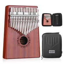 GECKO Kalimba 17 Keys «пианино для больших пальцев» builts-in EVA высокоэффективный защитный бокс, молоточек для настройки и инструкция по учебе. K17MBR