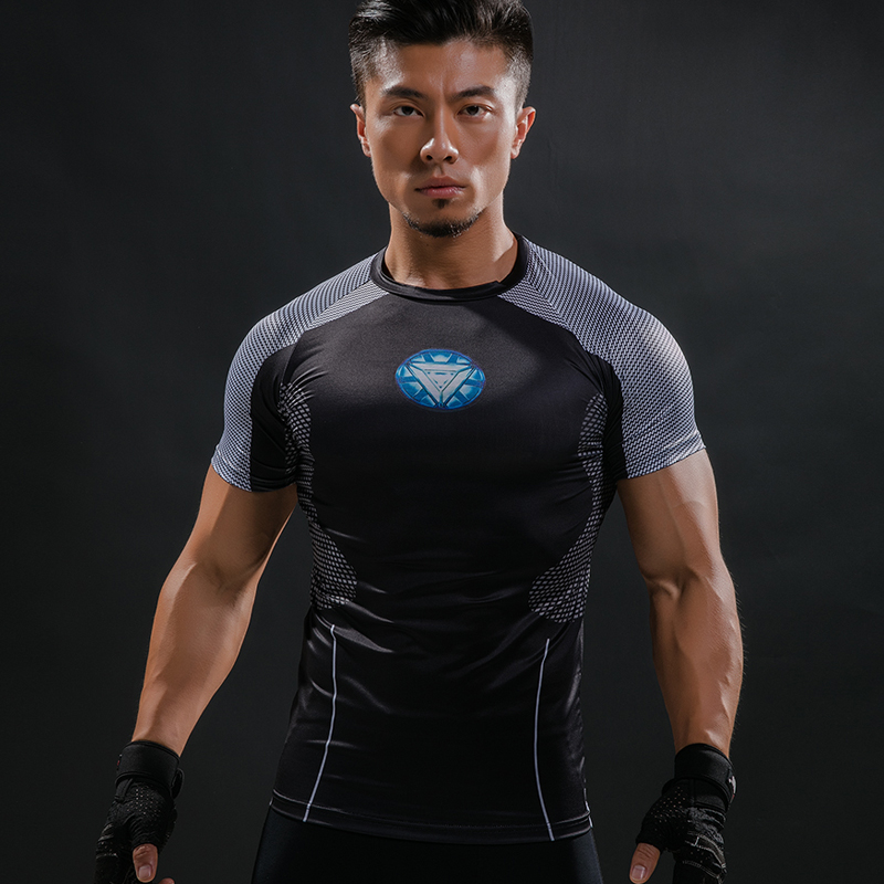 3D T-shirt Stampate Uomini Iron Man Hottoys T Shirt Capitano America Guerra Civile Tee 2017 Vendicatori di Fitness Maschile joges Crossfit top