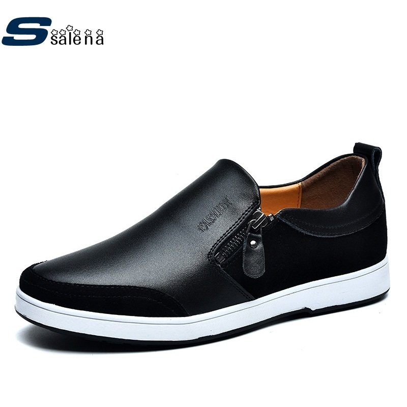 Genuine Leather Casual Shoes Light Weight New Design Men Dress Shoes Spring Autumn Breathable Driving Shoes AA30050 caltus casual shoes men breathable new fashion oxfords men flats genuine leather spring autumn breathable driving shoes aa20518