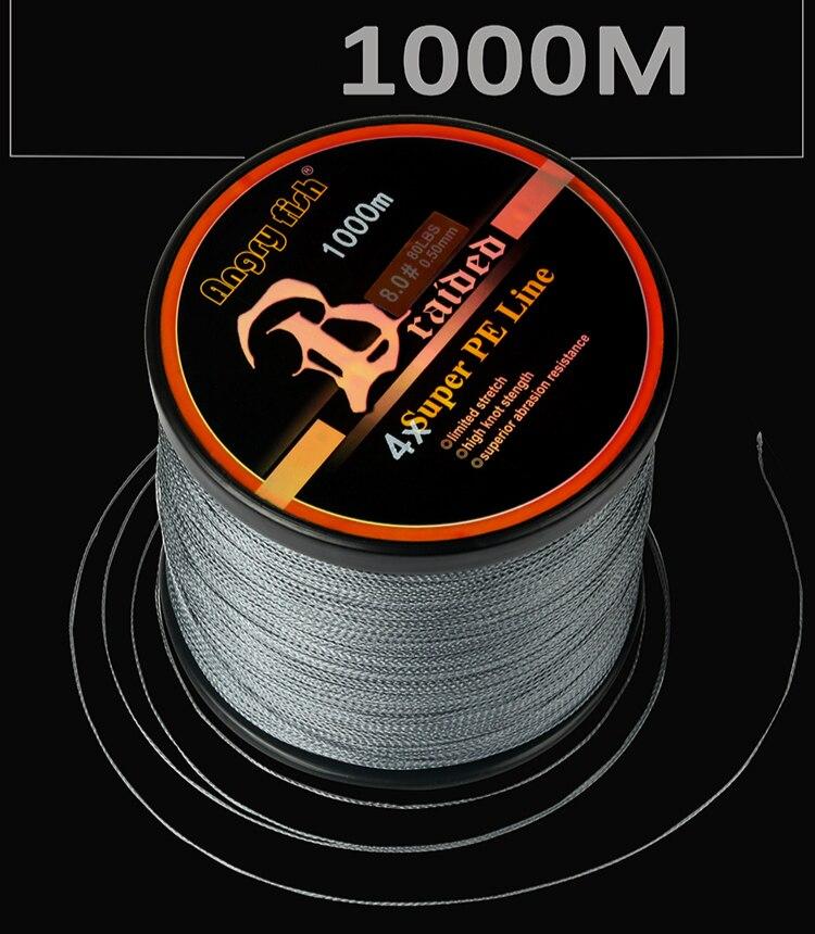 forte potencia de alta resistencia 4 tranca fishin linha 1000m forte puxando pe linha duravel desgastar