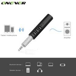 Универсальный 3,5 мм разъем Bluetooth автомобильный комплект Hands free музыкальный аудио приемник адаптер авто AUX комплект для динамиков наушников а...