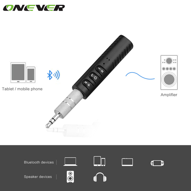 Universal 3.5mm Jack Bluetooth Car Kit Hands Free Music Audio Receiver Adapter Auto AUX Kit For