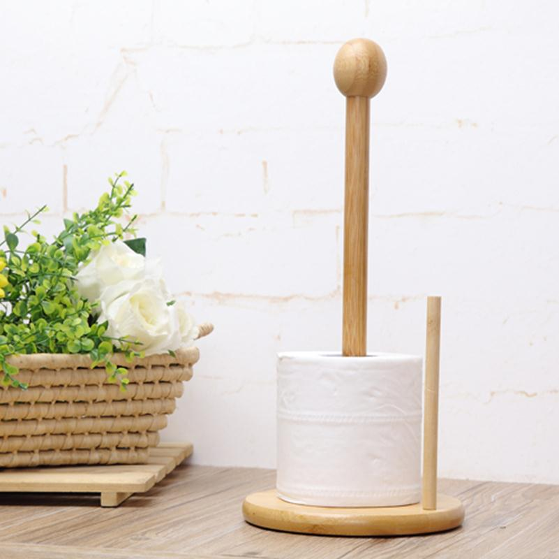 Kitchen Tissue Paper Holder Phyllostachys Pubescen Paper Holder Towel Rack Household Roll Paper Stand Tissue Holder Kitchen Tool