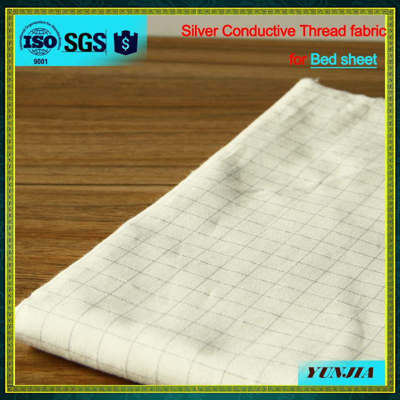 Conductive silver/cotton earth sheets fabric silver 109#