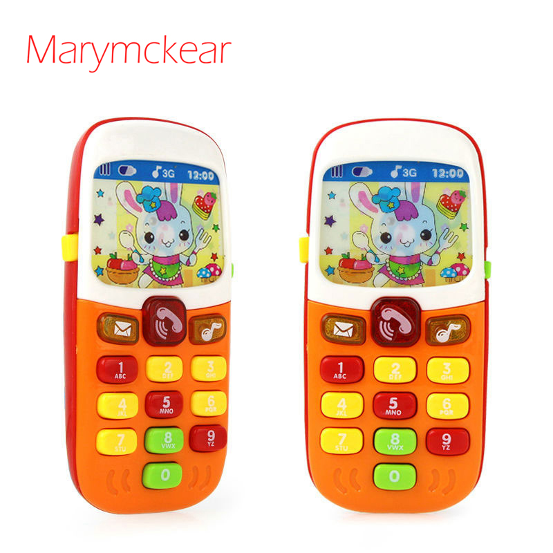 Cute Baby Phone Musical Toy With Lights Kids Educational Learning Phone Sounding Toy For Infant With Different Voice Kids Gift