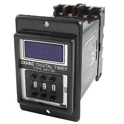 Подробнее о DC 24V Power on Digital Time Relay 1-999 Seconds 999S 8 Pins ASY-3D w Socket signal relay agy2324 ds2y s 24v ds2y s 24 v agy2324