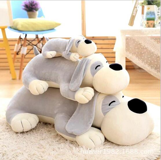 80cm Cute Plush dog Doll Lying Prone Dog Pillow Toy Baby Toddler Gift big size super cute plush toy dog doll as a christmas gift for children s home decoration 20