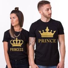 f4f7a3a5e822 EnjoytheSpirit Couple Tshirt Prince and Princess Couples Shirt Set 100%  Cotton Unisex Crewneck Fashion Summer Casual Style