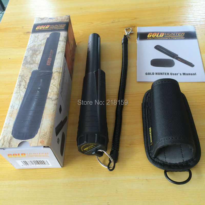 ФОТО Free Shipping Handheld metal detector Waterproof Gold Hunter Pinpointer Metal Detector With Sheath