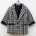 New Boys Kids Toddlers Plaid Check Dots Casual Suit Jacket Coat Clothes Outwear 2-7Y