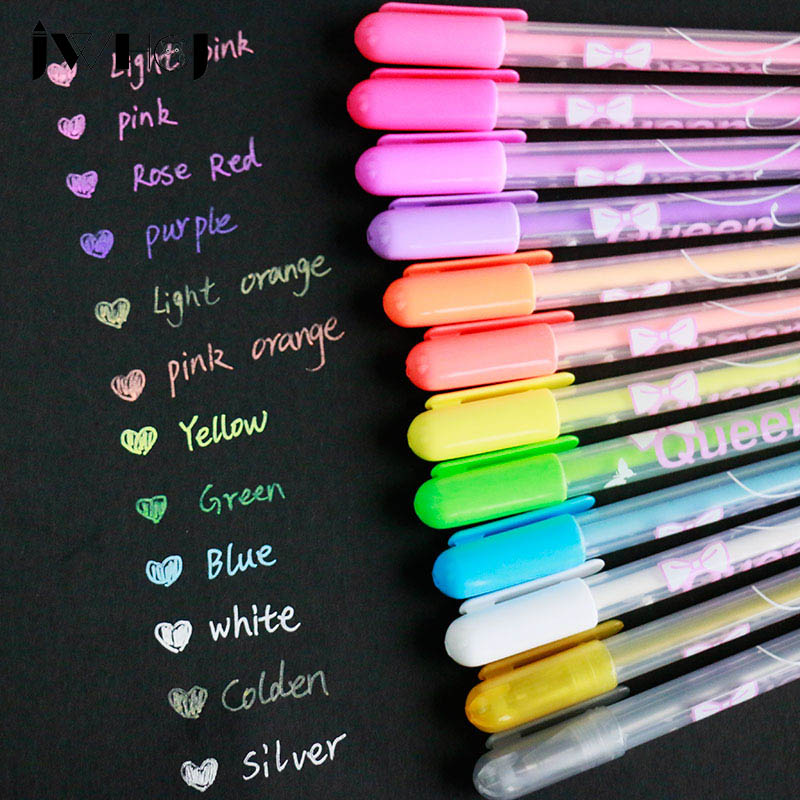 1pcs New album photo Queen gel pen 12 color pens decal stationery DIY Handmade write tools for children diary&Hand account decor beekeeping breeding queen breeding tools queen marking bottle