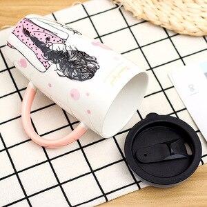 600 мл уникальный дизайн красивая керамическая кружка с крышкой большая емкость кружки Посуда для напитков кофейные чашки для чая новые подарки молочная чашка