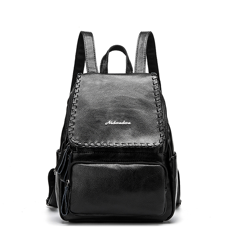 Fashion Leather Backpack College Schoolbag Trave Shoulder Bag For Women Girls Ladies Backpacks