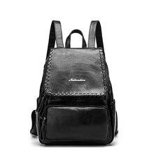 Модные кожаные рюкзак Колледж школьный траве сумка для Для женщин Обувь для девочек дамы Рюкзаки