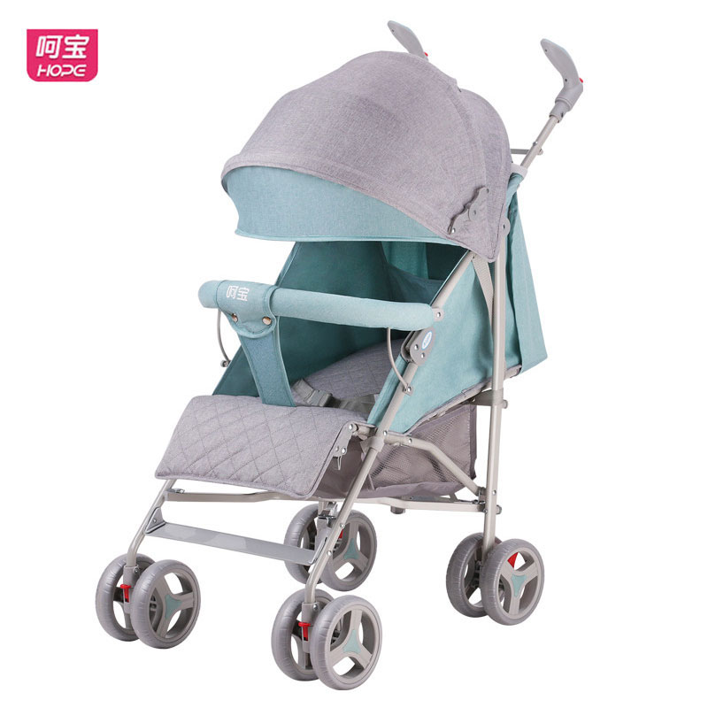 HOPE Lightweight Baby Stroller Lie Flat Newborn Baby Carriage Folding Baby Cart Travel Car Stroller Shockproof Light Baby Pram