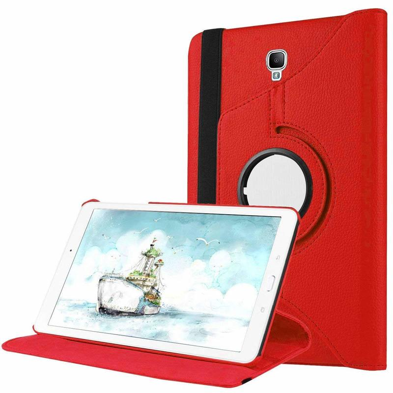 360 Degree Rotating PU Leather Flip Cover Case For Samsung Galaxy Tab A 8.0 2017 A2S T380 T385 SM-T385 SM-T380 Tablet Case Glass