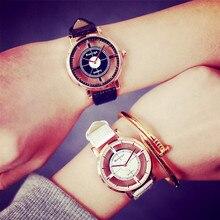 Скелет Модные женские туфли часы уникальный стильный Super Star Двойной полые Дизайн часы леди Повседневное кварцевые наручные часы подарок Обувь для девочек часы