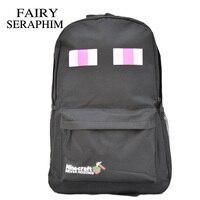 Hot Selling High Quality Black Color Kids Children Teenagers Schoolbag Minecraft Creeper Backpacks School Bag Mochila