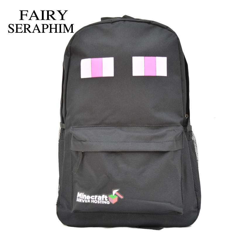 FAIRY SERAPHIM Minecraft Creeper Backpack High Quality Black color Kids Children Teenagers Schoolbag Mochila School Bag minecraft backpack factory directly children schoolbag boy girls canvas zip green creeper backpacks page 2