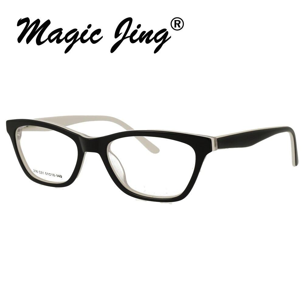 Loyaal Magic Jing Acetaat Bijziendheid Eyewear Brillen Volledige Velg Recept Bril Rx Optische Frames Voor Mannen Sdm3127 Om Te Genieten Van Een Hoge Reputatie Thuis En In Het Buitenland