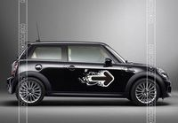 Car Styling Arrowhead Door Stickers Decal For Mini Cooper Countryman R60 Clubman Jcw Accessories