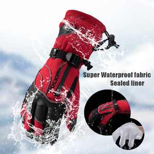 Image 3 - ROCKBROS gants de moto imperméable thermique pour hommes et femmes, pour Snowboard, pour neige