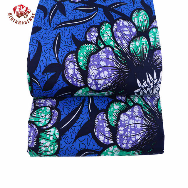 Wax Hollandais New Arrival  2018 Ankara Super Polyester Wax High Quality 6 yards  African Fabric for Party Dress pl569 3