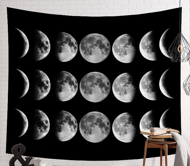Image 5 - CAMMITEVER Space Starry Sky Starlight Tapestry Wall Hanging Multifunctional Tapestry Boho Printed Bedspread Cover Yoga Mat-in Tapestry from Home & Garden