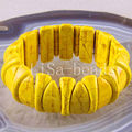 "Free Shipping Fashion Jewelry Yellow Stretch Turquoise Bracelet 8"" 1Pcs H1150"